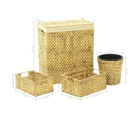 vidaXL 4 Piece Bathroom Set Water Hyacinth[15/15]