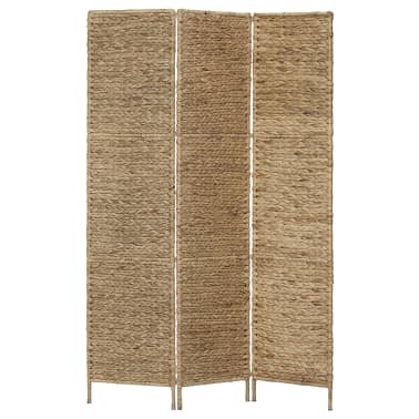 "vidaXL 3-Panel Room Divider 45.7""x63"" Water Hyacinth[1/6]"