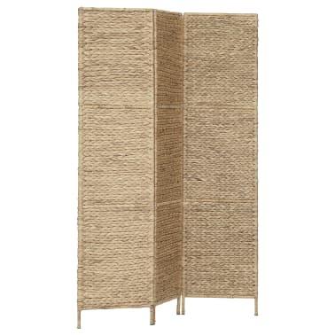 "vidaXL 3-Panel Room Divider 45.7""x63"" Water Hyacinth[2/6]"