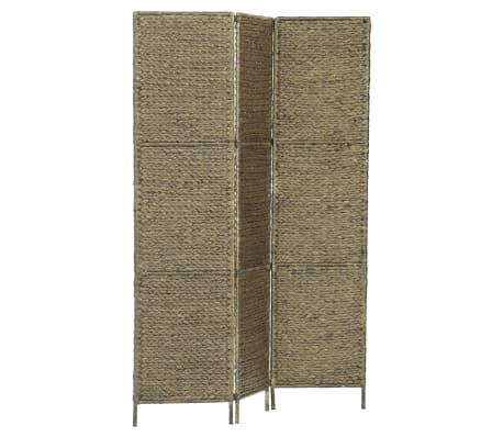 vidaXL 3 dalių kambar. pertvara, ruda, 116 x 160 cm, vandens hiacintas[2/6]