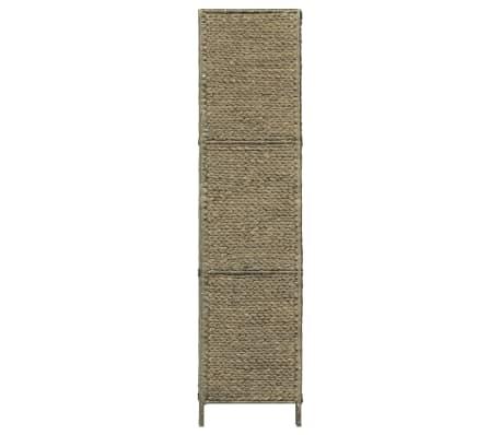 vidaXL 3 dalių kambar. pertvara, ruda, 116 x 160 cm, vandens hiacintas[4/6]
