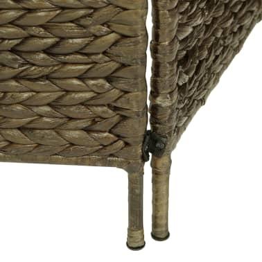 vidaXL 3 dalių kambar. pertvara, ruda, 116 x 160 cm, vandens hiacintas[6/6]
