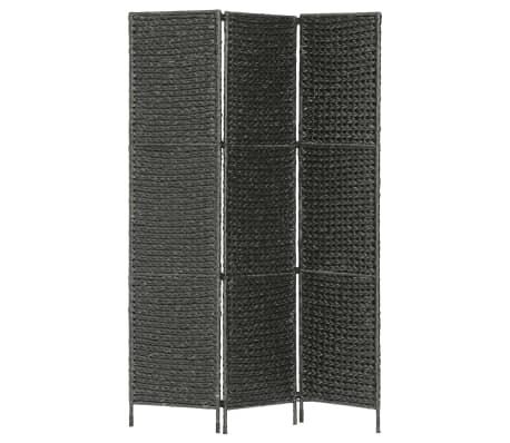 vidaXL Romdeler med 3 paneler 116x160 cm vannhyasint svart
