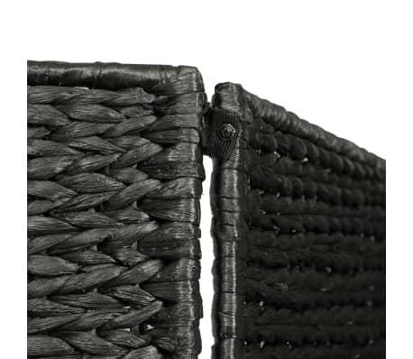 "vidaXL 3-Panel Room Divider Black 45.7""x63"" Water Hyacinth[5/6]"