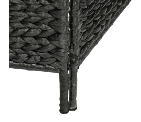 "vidaXL 3-Panel Room Divider Black 45.7""x63"" Water Hyacinth[6/6]"