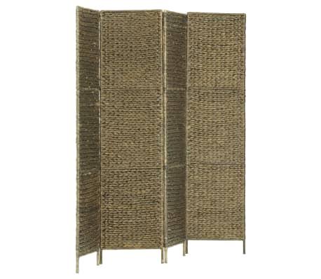 vidaXL 4-Panel Room Divider Brown 154x160 cm Water Hyacinth[2/6]