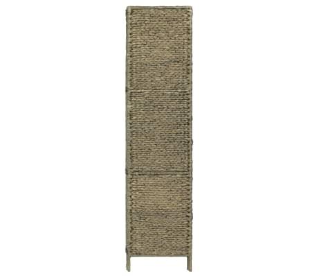 vidaXL 4-Panel Room Divider Brown 154x160 cm Water Hyacinth[4/6]