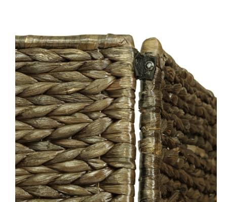 vidaXL 4-Panel Room Divider Brown 154x160 cm Water Hyacinth[5/6]
