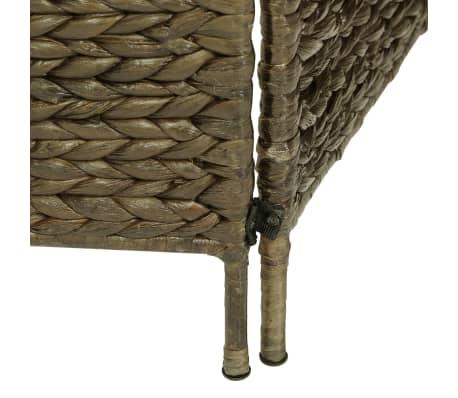 vidaXL 4-Panel Room Divider Brown 154x160 cm Water Hyacinth[6/6]