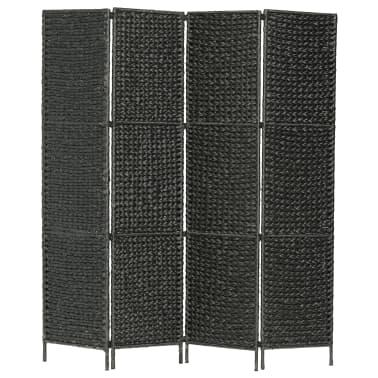 vidaXL Kambario pertvara, 4 d., juoda, 154 x 160 cm, vandens hiacintas[1/6]