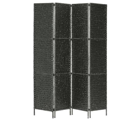 vidaXL Kambario pertvara, 4 d., juoda, 154 x 160 cm, vandens hiacintas[2/6]