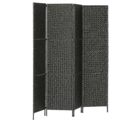 vidaXL Kambario pertvara, 4 d., juoda, 154 x 160 cm, vandens hiacintas[3/6]