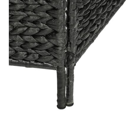vidaXL Kambario pertvara, 4 d., juoda, 154 x 160 cm, vandens hiacintas[6/6]