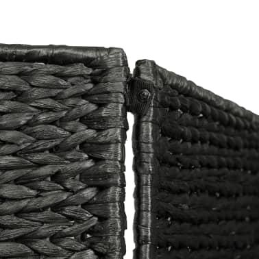 vidaXL Kambario pertvara, 4 d., juoda, 154 x 160 cm, vandens hiacintas[5/6]