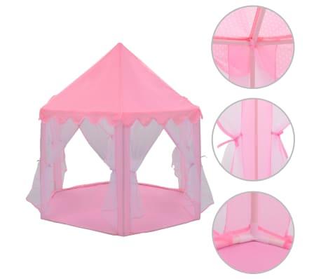 vidaXL Tienda de juegos de princesa rosa
