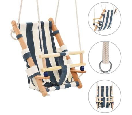 vidaXL Kūdikių sup. kėdė su saugos diržu, mėl. sp., medvilnė, mediena[1/10]