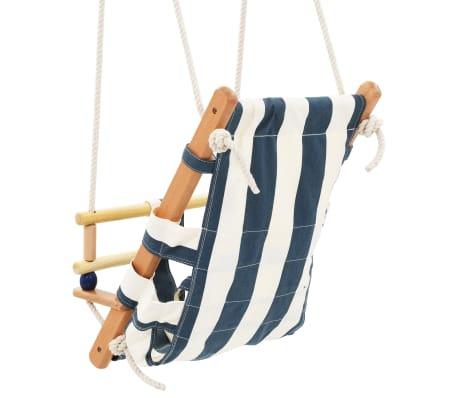 vidaXL Kūdikių sup. kėdė su saugos diržu, mėl. sp., medvilnė, mediena[5/10]
