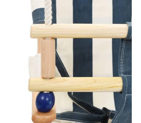 vidaXL Kūdikių sup. kėdė su saugos diržu, mėl. sp., medvilnė, mediena[8/10]