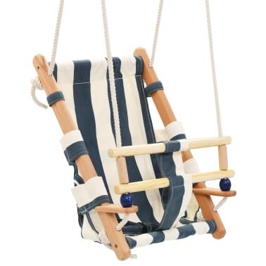 vidaXL Kūdikių sup. kėdė su saugos diržu, mėl. sp., medvilnė, mediena[2/10]