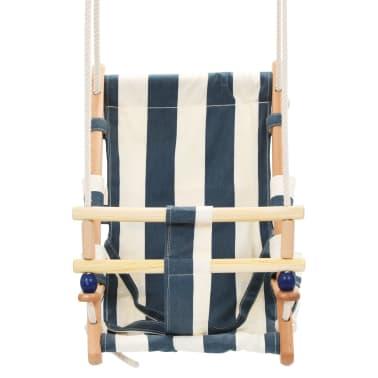 vidaXL Kūdikių sup. kėdė su saugos diržu, mėl. sp., medvilnė, mediena[3/10]