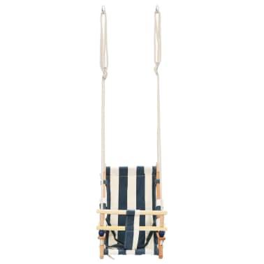 vidaXL Kūdikių sup. kėdė su saugos diržu, mėl. sp., medvilnė, mediena[6/10]