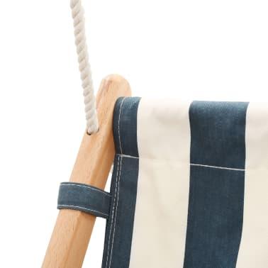 vidaXL Kūdikių sup. kėdė su saugos diržu, mėl. sp., medvilnė, mediena[7/10]