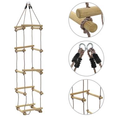 vidaXL Échelle de corde pour enfants 200 cm Bois[1/7]
