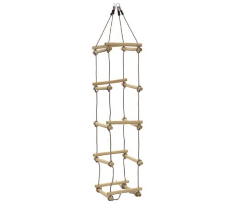 vidaXL Échelle de corde pour enfants 200 cm Bois[2/7]
