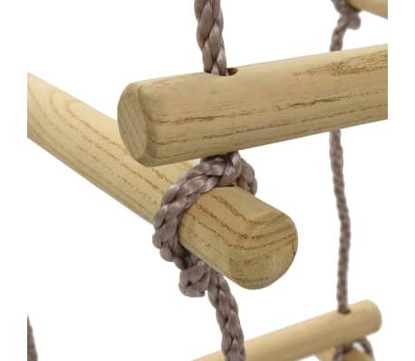 vidaXL Échelle de corde pour enfants 200 cm Bois[5/7]
