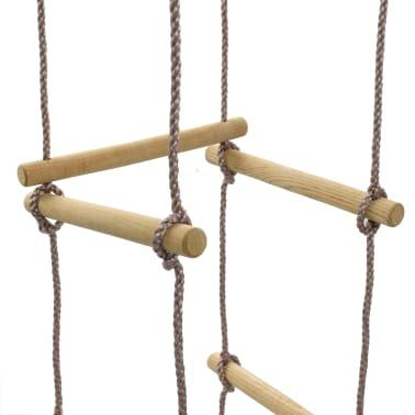vidaXL Échelle de corde pour enfants 200 cm Bois[4/7]