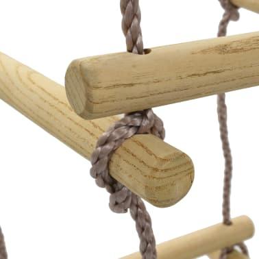 vidaXL Virvinės kopėčios vaikams, 200 cm, mediena[5/7]
