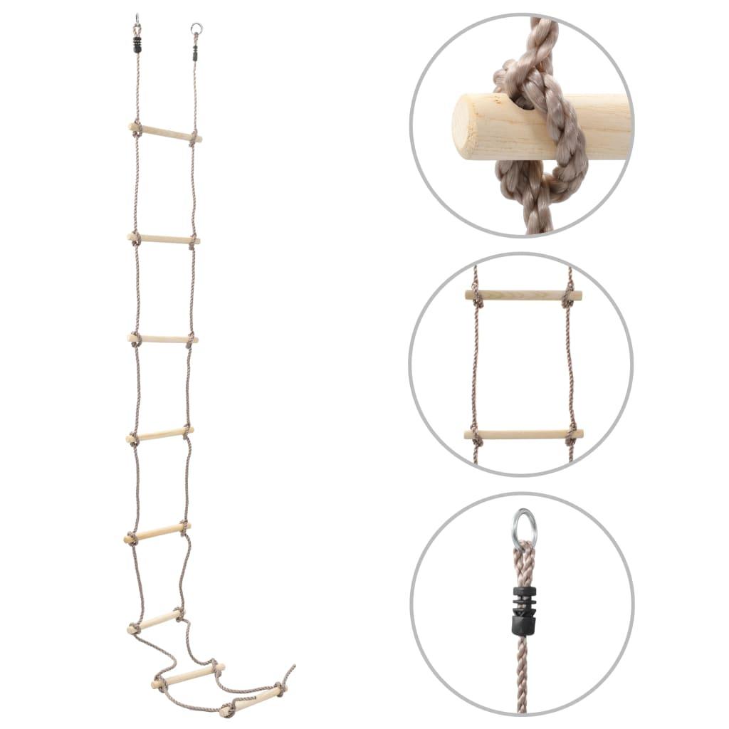 vidaXL Dětský provazový žebřík 290 cm dřevo