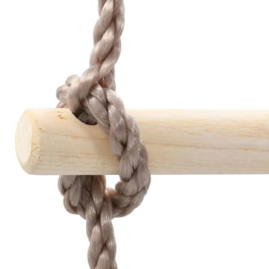 vidaXL Virvinės kopėčios vaikams, 290cm, mediena[5/6]