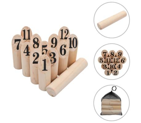 vidaXL Igra Kubb s številkami komplet iz lesa[1/6]