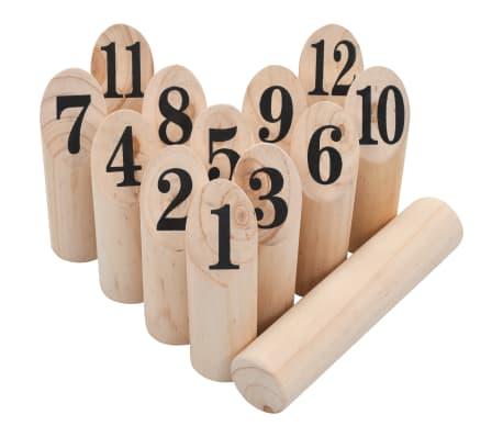vidaXL Žaidimas Number Kubb, medinis[3/6]