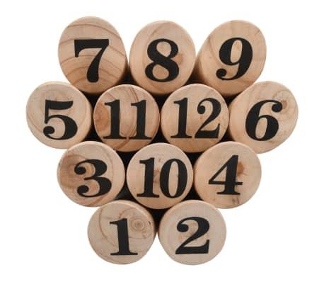 vidaXL Žaidimas Number Kubb, medinis[4/6]