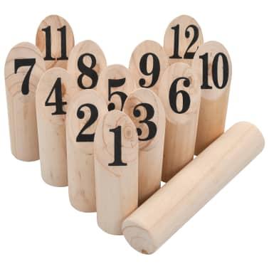 vidaXL Igra Kubb s številkami komplet iz lesa[3/6]