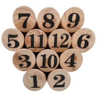 vidaXL Igra Kubb s številkami komplet iz lesa[4/6]