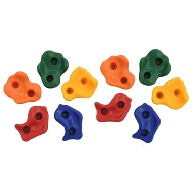 vidaXL Laipiojimui skirti akmenys, 10vnt., įvairių spalvų, PE[1/8]
