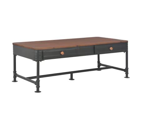 vidaXL Coffee Table with 2 Drawers 115x55x40 cm Solid Fir Wood