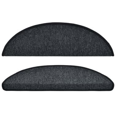 vidaXL 15 st Trapmatten 56x17x3 cm antraciet[3/7]
