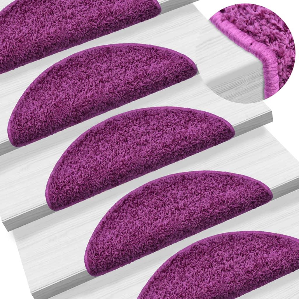 Nášlapy na schody 15 ks fialové 56 x 20 cm
