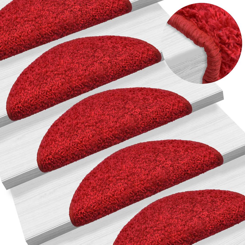 Nášlapy na schody 15 ks červené 56 x 20 cm