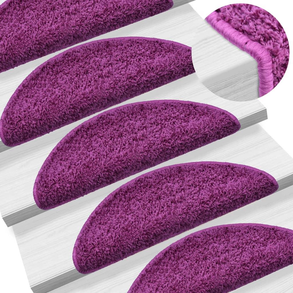 15 ks Nášlapy na schody fialové 65 x 25 cm