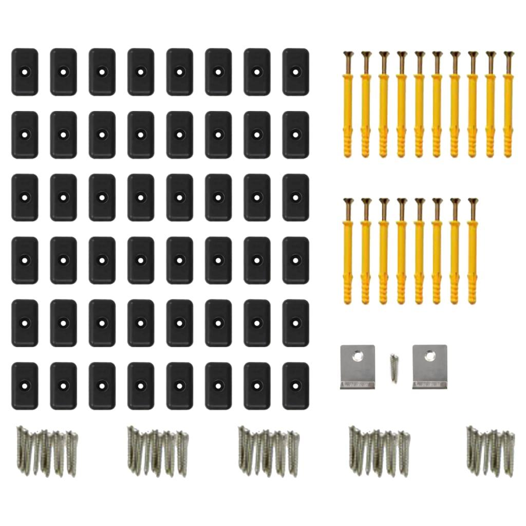 vidaXL Terrasplanken met accessoires 30 m² 2,2 m massief HKC zwart
