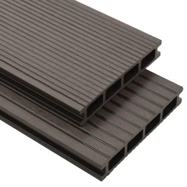vidaXL Panneaux de terrasse creux WPC 16 m² 2,2 m Marron foncé[1/10]