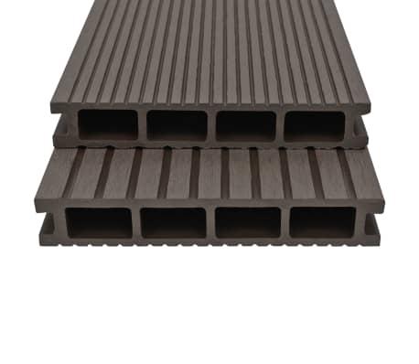 vidaXL Panneaux de terrasse creux WPC 16 m² 2,2 m Marron foncé[2/10]