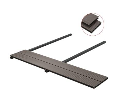 vidaXL Panneaux de terrasse creux WPC 16 m² 2,2 m Marron foncé[3/10]