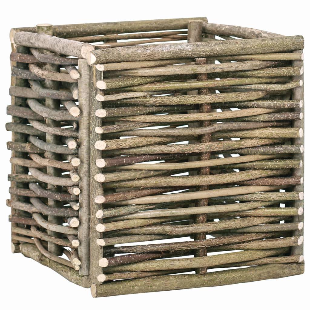 vidaXL Vyvýšený zahradní truhlík 40 x 40 x 40 cm lískové dřevo