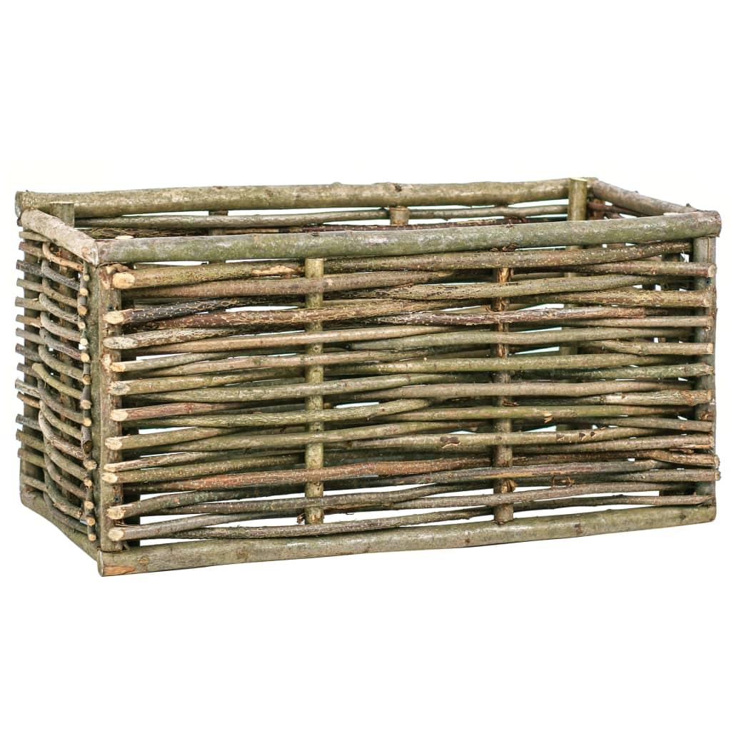 Vyvýšený záhon 80 x 40 x 40 cm lískové dřevo